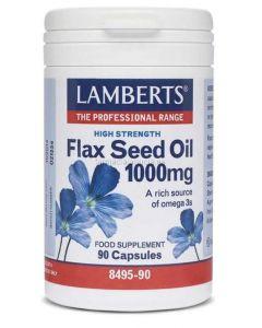 ❤️ FLAX SEED OIL ✅ [LAMBERTS] 1000 mg. 90 capsules