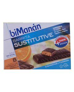 BiManan Barritas de chocolate negro y naranja 8 Unidades