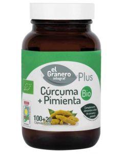 BIO TURMERIC + PEPPER 60 capsules [EL GRANERO]