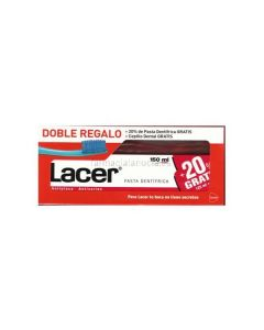 Lacer Toothpaste 125ml + travel toothbrush Free