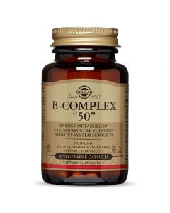 "Vitamin B-Complex ""50"" High potency - 50 Vegetable Capsules"