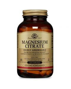 Solgar Magnesiumcitrat 200mg Energiestoffwechsel Mineralstoff - 120 Vegane Tabletten