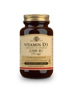 Vitamin D3 2200 IE (55 μg) (Colecalciferol) - 50 Gemüsekapseln