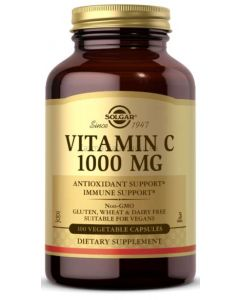 VITAMINA C ⭐️ 1000mg 100 cápsulas vegetales ➡️ [SOLGAR]