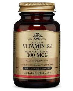 ⭐️ NATURALLY SOURCED ❤️ VITAMIN K2 (MK-7) 100 MCG ▶️ VEGETABLE CAPSULES