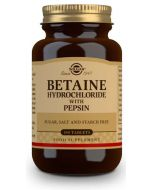 ✅ Betaine Hydrochloride with Pepsin 100 Tablets [SOLGAR]