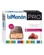 Bimanan Pro Barritas Chocolate Fresa 6 Unidades