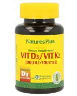 ☀️ VITAMIN D3 ✅ VITAMIN K2 ❤️ 90 capsules NATURE'S PLUS
