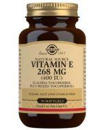 VITAMINA E ❇️ 400UI (268mg) 50 cápsulas blandas vegetarianas [SOLGAR]
